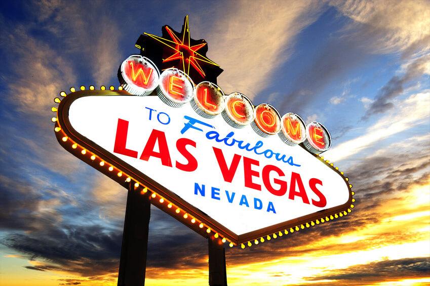 Welcome to Las Vegas Schild