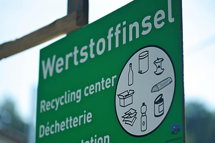 Auf Campingplätzen mit Öko-Label wird Mülltrennung groß geschrieben.