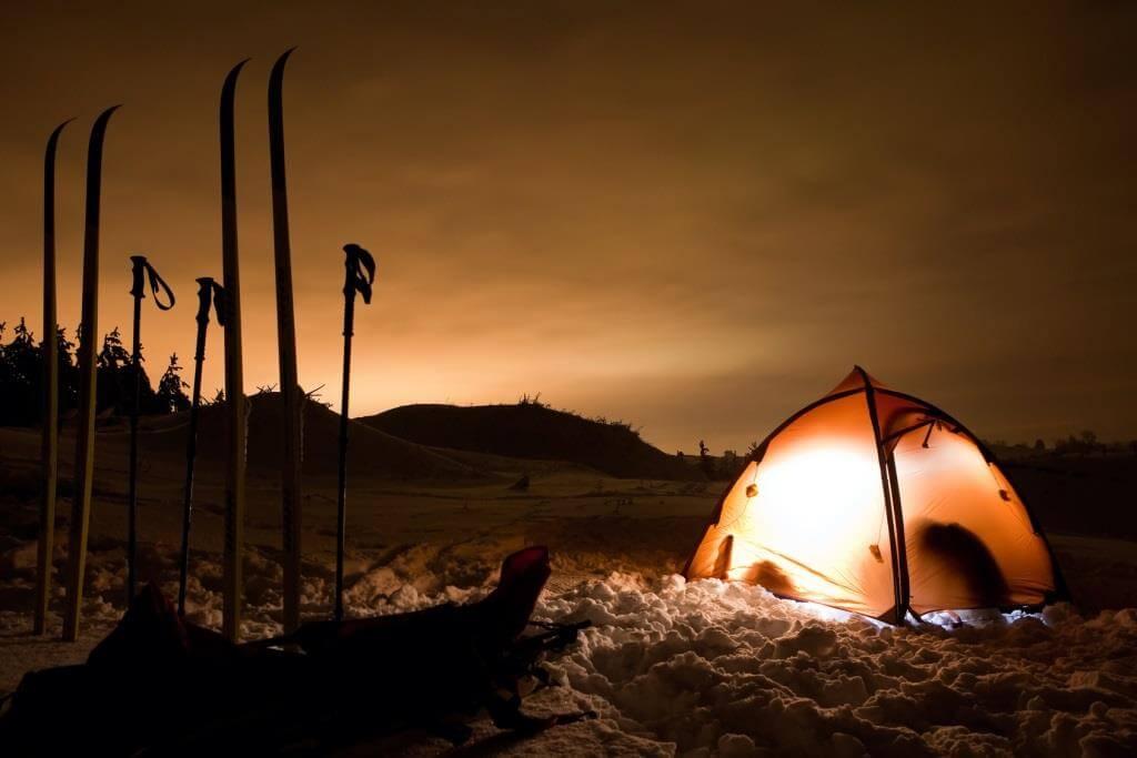 Campen im Winterzelt