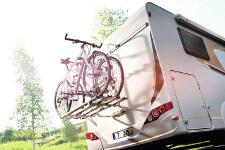 Fahrradträger am rent easy Wohnmobil