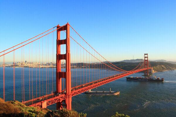 Blick vom Battery Spencer auf die Golden Gate Bridge