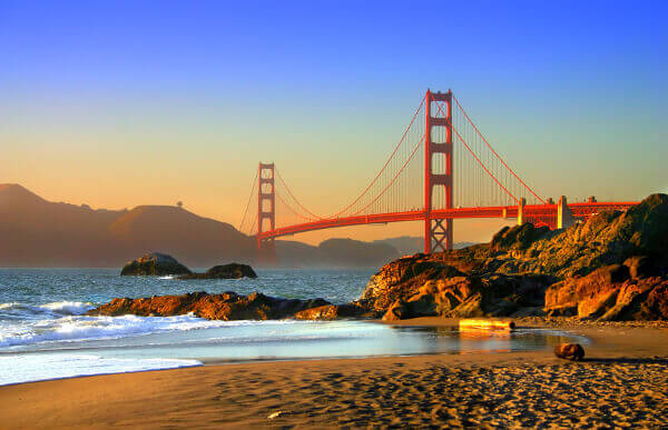 Die Golden Gate Bridge von der anderen Seite