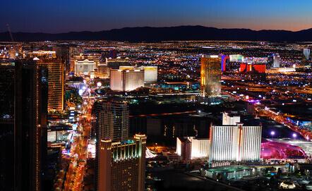Nachtpanorama von Las Vegas