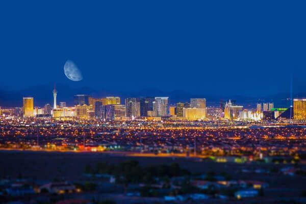 Las Vegas Panorama bei Nacht