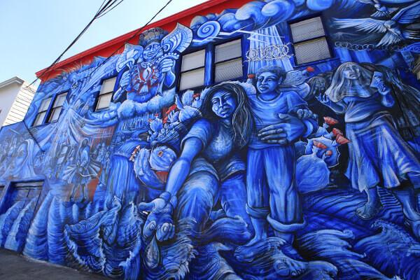 Graffiti-Malerai auf einem Gebäude in San Francisco