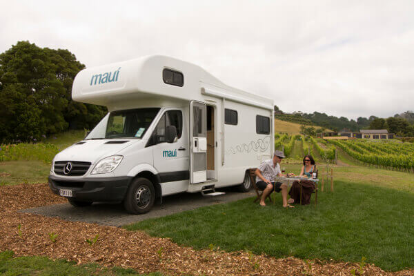maui self contained Wohnmobil in Neuseeland