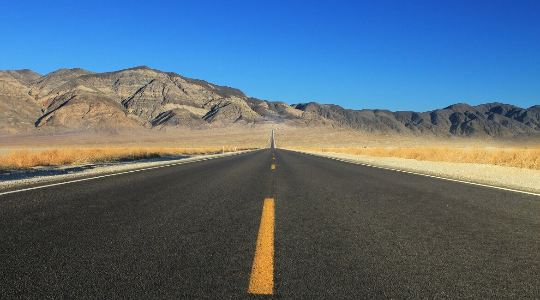 Einsame Straße in den USA