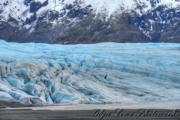 Blaues Eis am Vatnajökull Gletscher