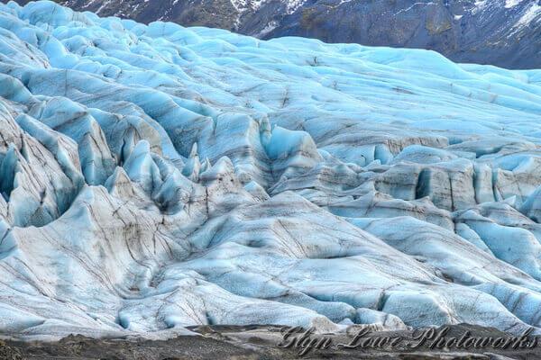 Das blaue Eis des Vatnajökull Gletschers