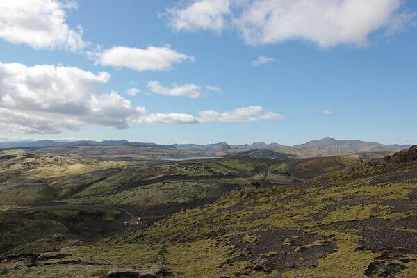 Surreale Landschaft der Laki-Krater