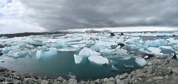 Umhertreibende Eisschollen, Gletschersee Jökulsárlón