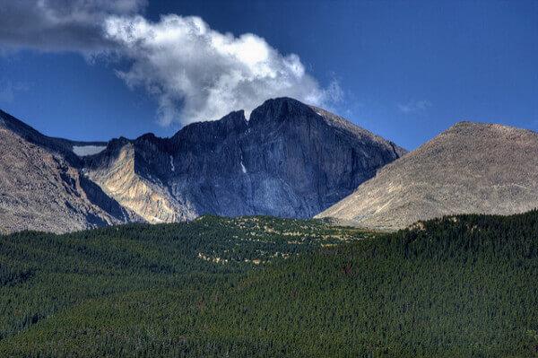 Blick auf den Longs Peak