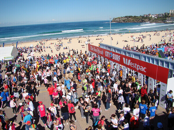 City2Surf-Lauf am Bondi Beach in Sydney