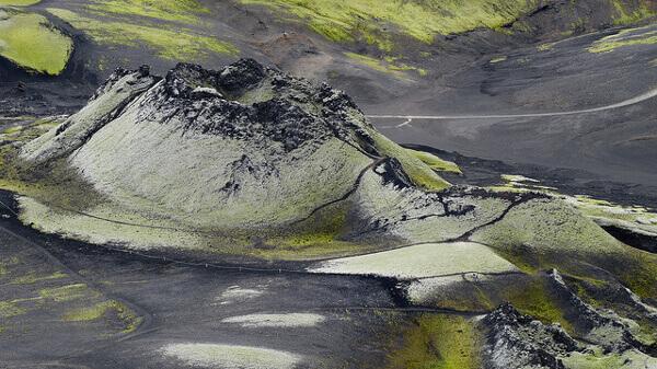 Laki-Krater Landschaft auf Island
