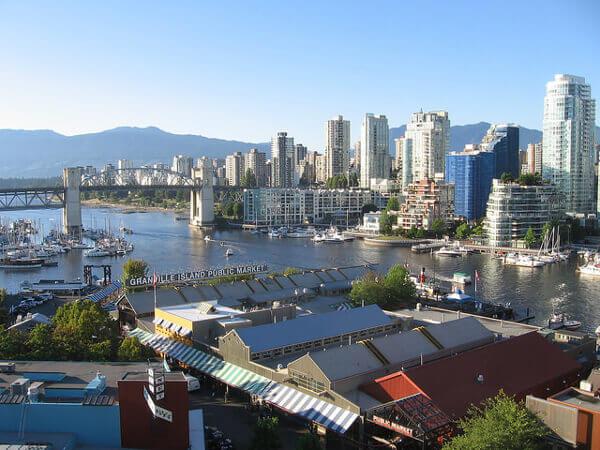 Der Public Market auf Granville Island in Vancouver
