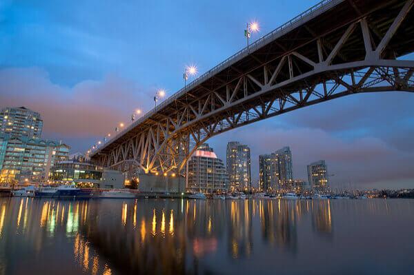 Die Granville Bridge in Vancouver