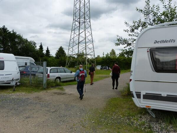 Unterwegs zum Camper