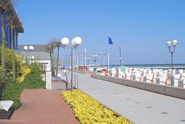 Strandpromenade im Ostseebad Grömitz