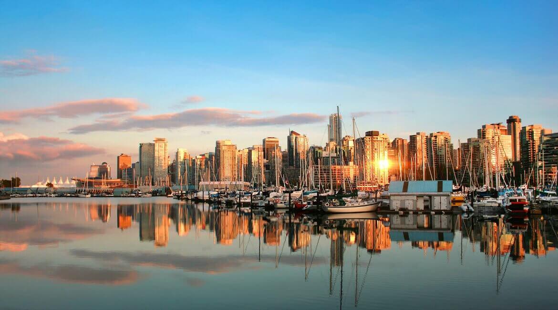 Stadtpanorama und Skyline von Vancouver