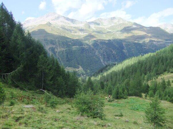 Blick über das Bedrettotal bis zum Gotthardmassiv