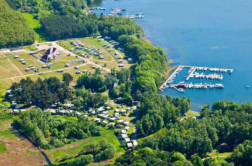 Camping- und Wohnmobilpark Kamerun von oben
