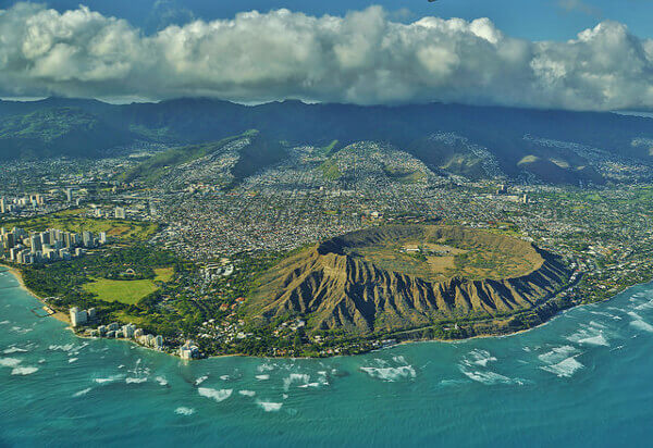 Diamond Head aus der Luft