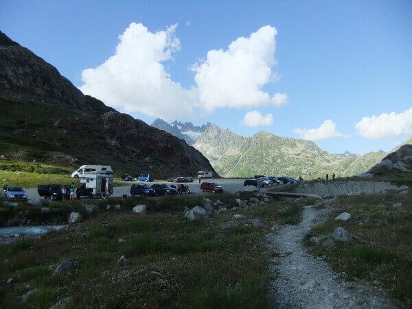Oberster Parkplatz an der Gletscherstraße Steingletscher