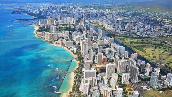 Honolulu aus der Luft
