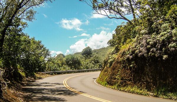 Kurve auf der Road to Hana