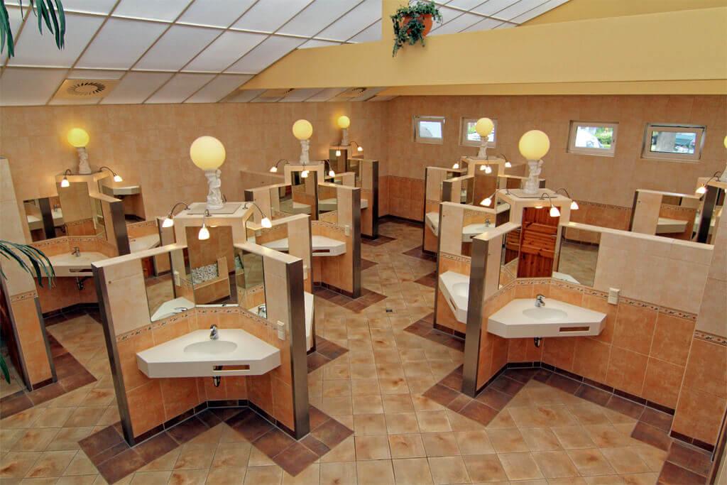 Waschraum im Campingpark Kühlungsborn