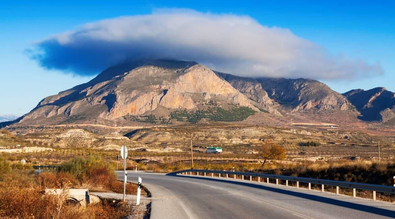 Wunderschöne Straße in Andalusien