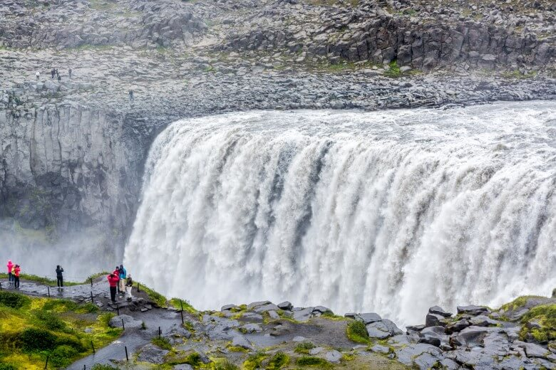 Detifoss Waserfall in Island