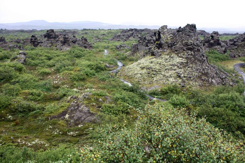 Dimmuborgir-Lavafelder