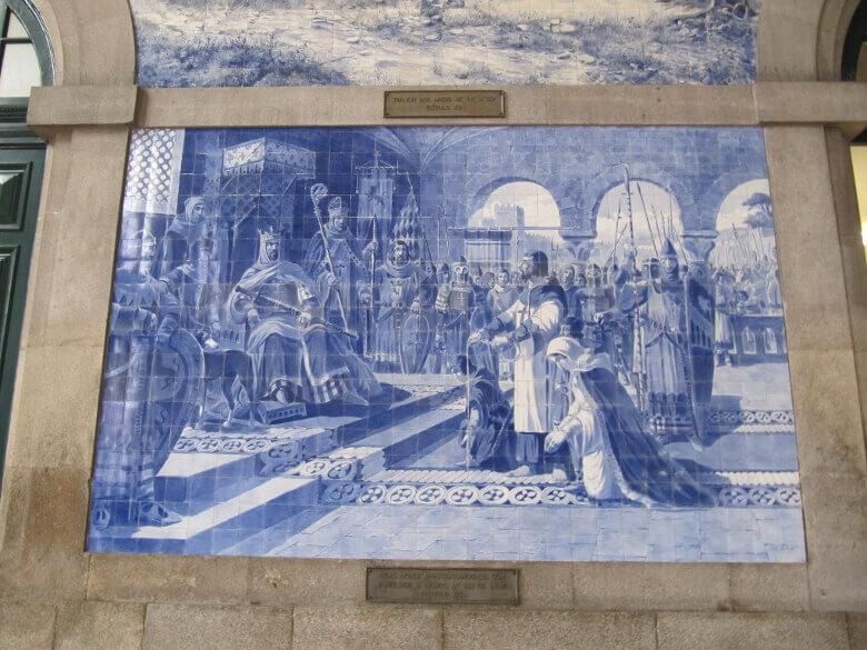 Mosaik im Estação de São Bento (Hauptbahnhof von Porto)