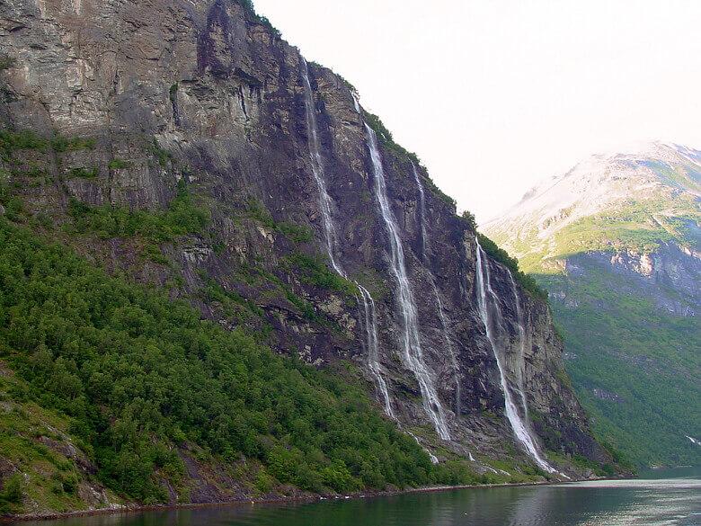 Sieben Schwestern im Geirangerfjord