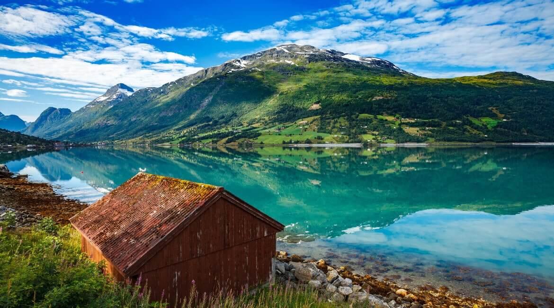 See und Berge in Norwegen