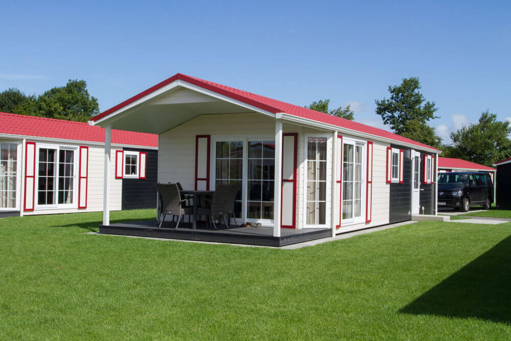 Außenansicht Chalet Nordsee-Camp