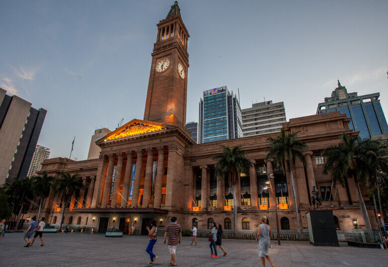 City Hall in Brisbane von vorne