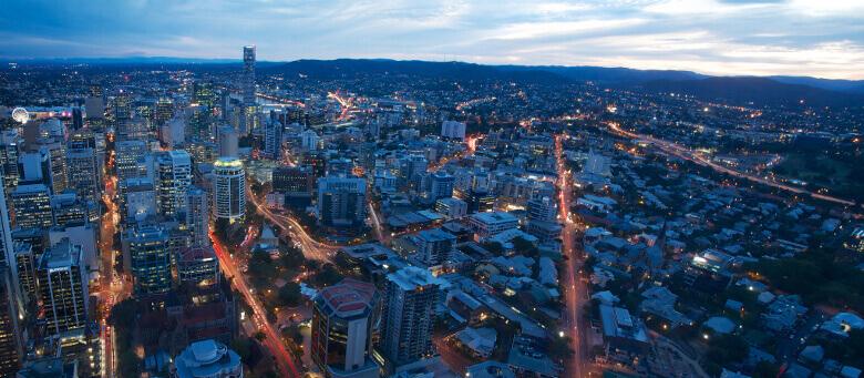 Stadtpanorama von Brisbane