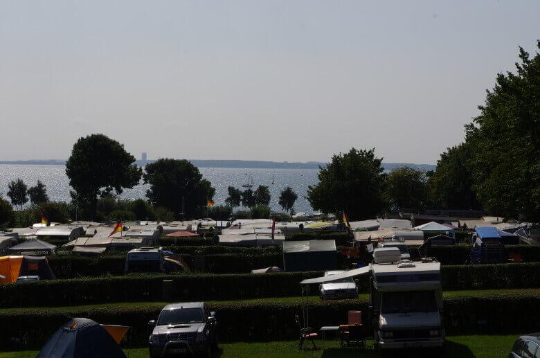 Wohnmobilstellplätze am Campingplatz Am Strande