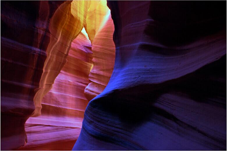 Bunte Wände Antelope Canyon
