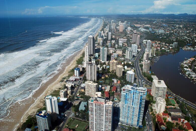 Gold Coast Panorama von oben
