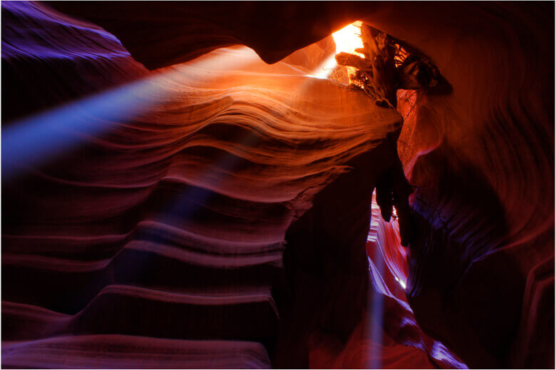 Beams im Antelope Canyon