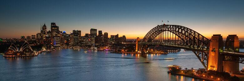 Panorama von Sydney mit der Harbour Bridge