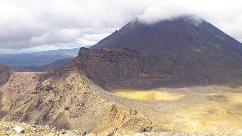 Tongariro Alpine Crossing Aussicht auf Berg