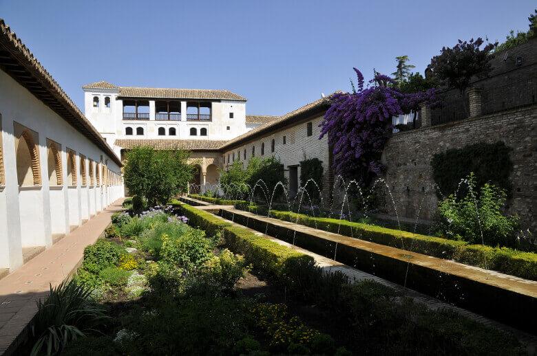 Palacio de Generalife mit seinen Gärten