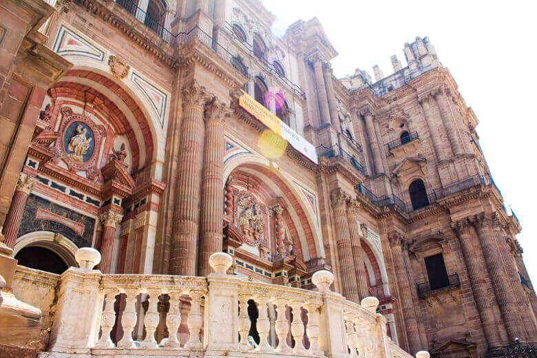 Fassade der Kathedrale von Málaga