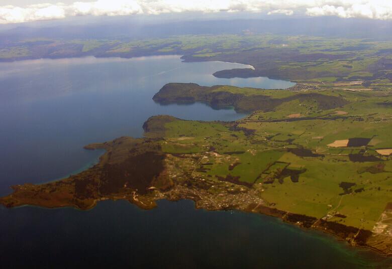 Lake Taupo Aussicht von oben