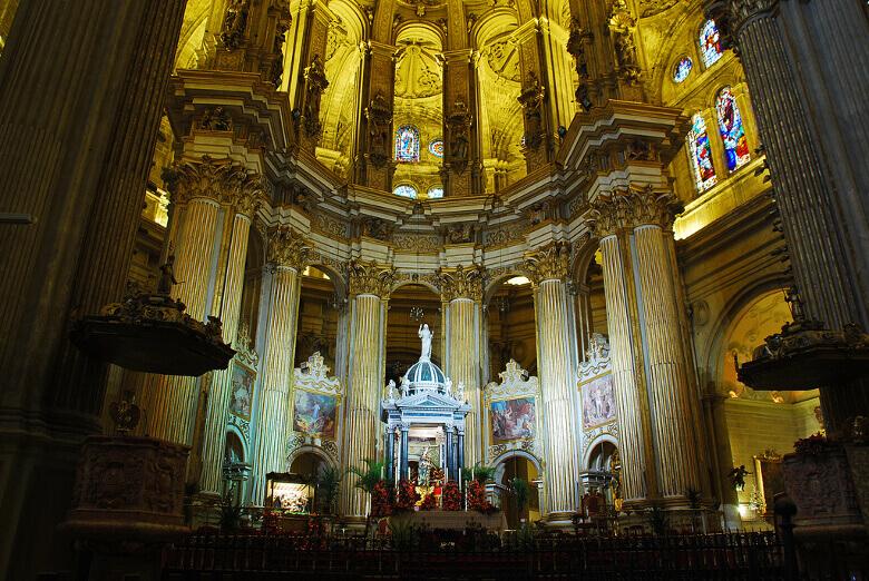 Málaga Kathedrale von innen