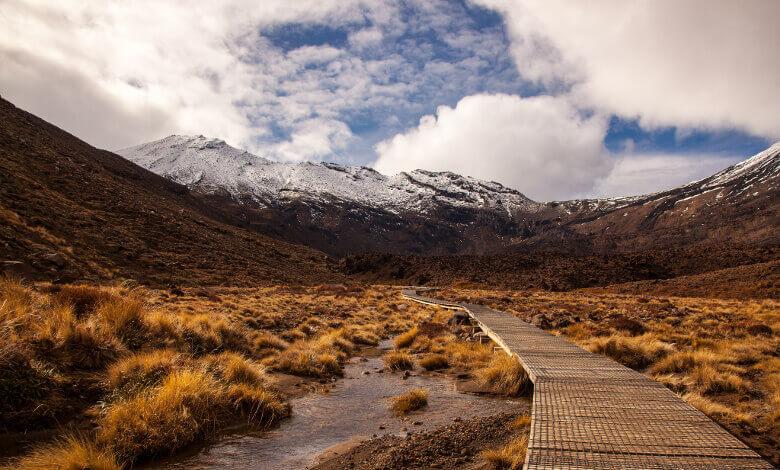Befestigter Weg am Tongariro Alpine Crossing